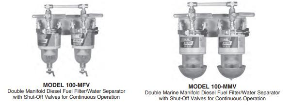 double manifold Series Diesel Fuel Filter Water Separators
