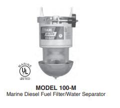 model 100 marine Series Diesel Fuel Filter Water Separators